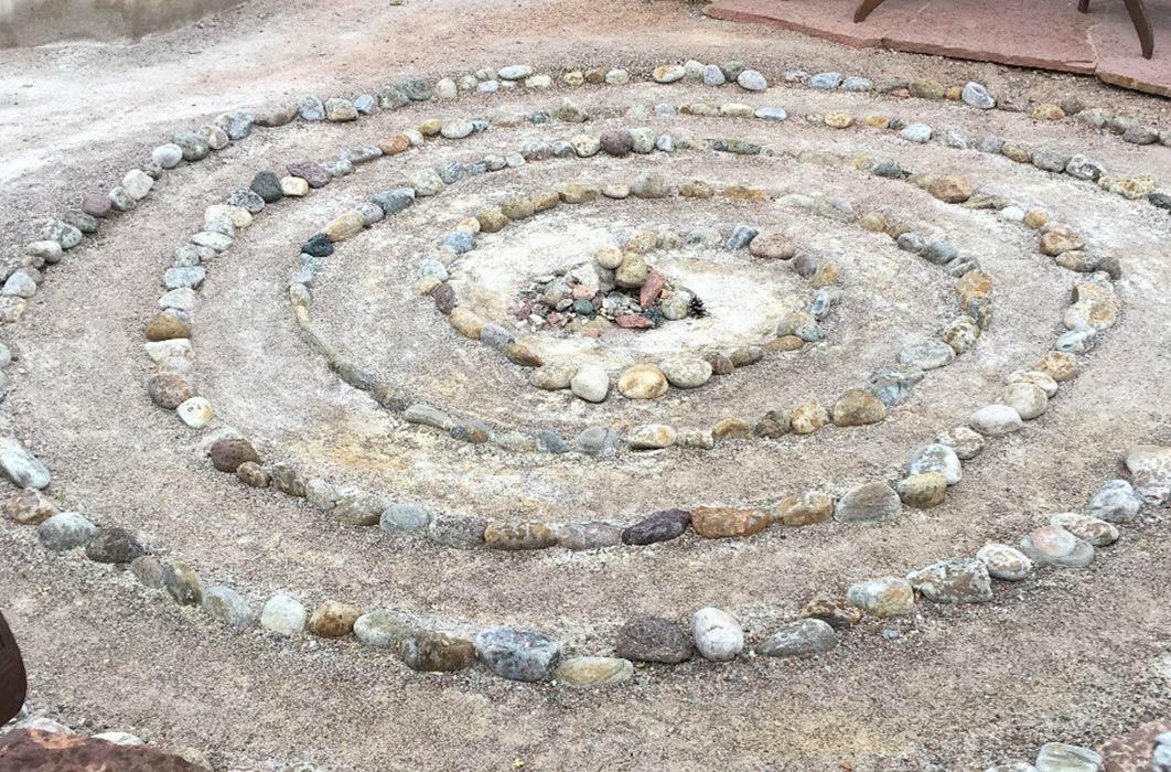 Spiral Medicine Wheel Ojo Caliente, NM. (Image: Courtesy © Dr Linda Tello)