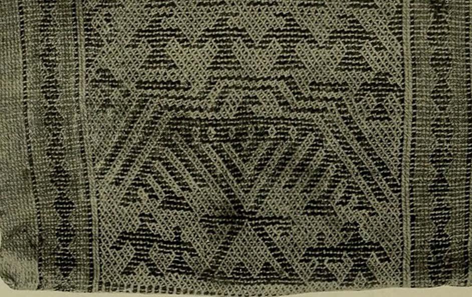 A Menomini woven bag showing the Thunderers. (Public Domain)
