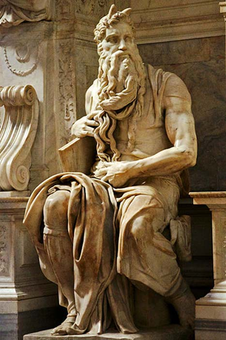 Michelangelo's Moses in San Pietro (Luca Volpi / CC BY-SA 3.0)