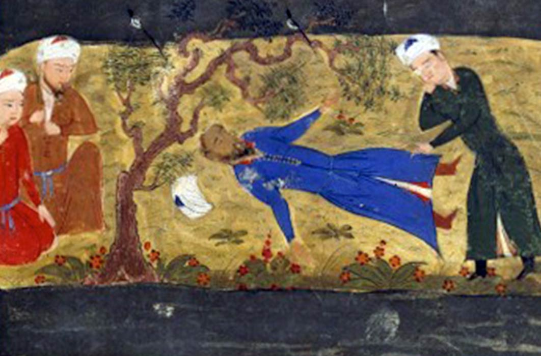 Death of Muhammad II of Khwarezm. From Jami' al-tawarikh by Rashid-al-Din Hamadani. (Public Domain)