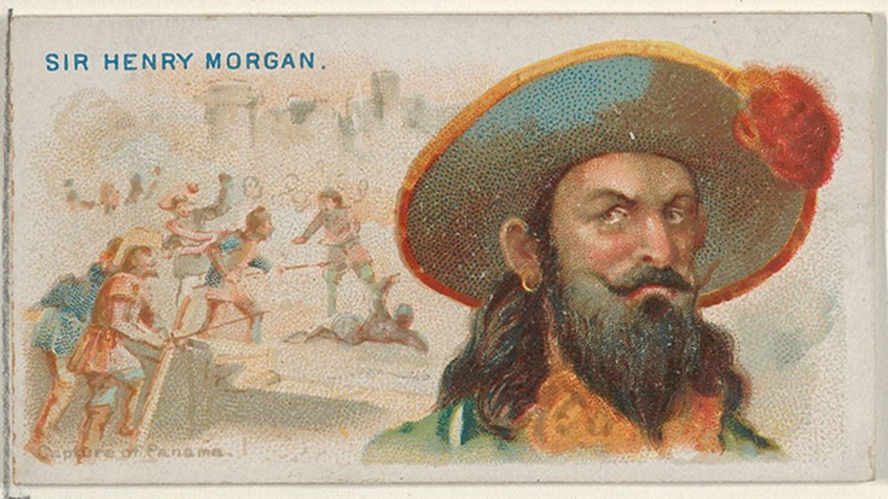 Sir Henry Morgan, Capture of Panama, from the Pirates of the Spanish Main series (N19) for Allen & Ginter Cigarettes.