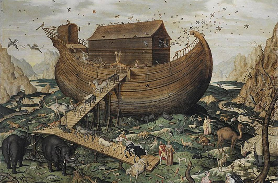 Noah's ark on the Mount Ararat by Simon de Myle (1570) (Public Domain)