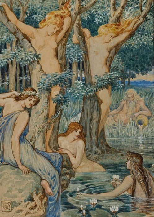 Nyads and Dryads by Walter Crane (1845–1915) (Public Domain)