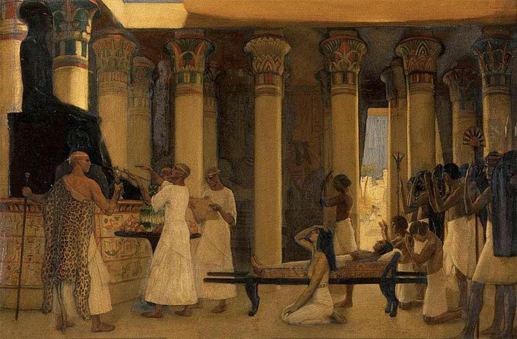 he Obsequies of an Egyptian Cat, John Reinhard Weguelin, 1886 (Public Domain)