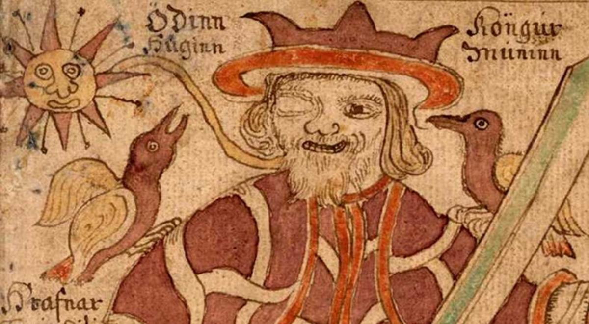 An 18th century Icelandic depiction of Odin (Wodin)