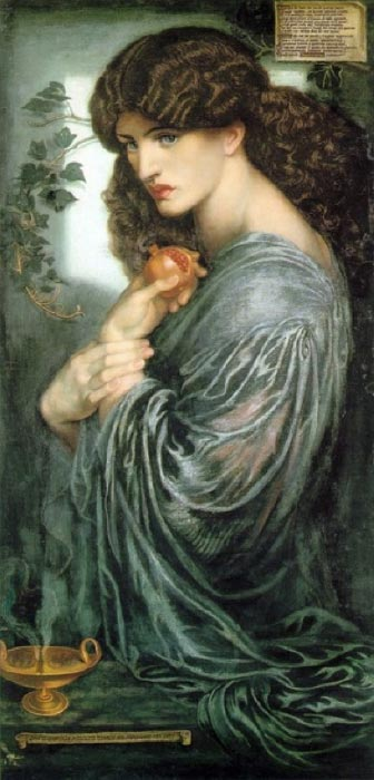 Persephone and the pomegranate by Dante Gabriel Rossetti (1874) (Public Domain)