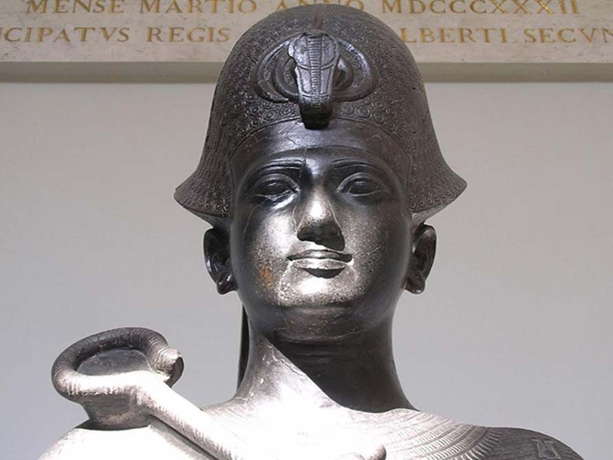 Pharaoh Ramesses II. Statue in the Torino Museum.