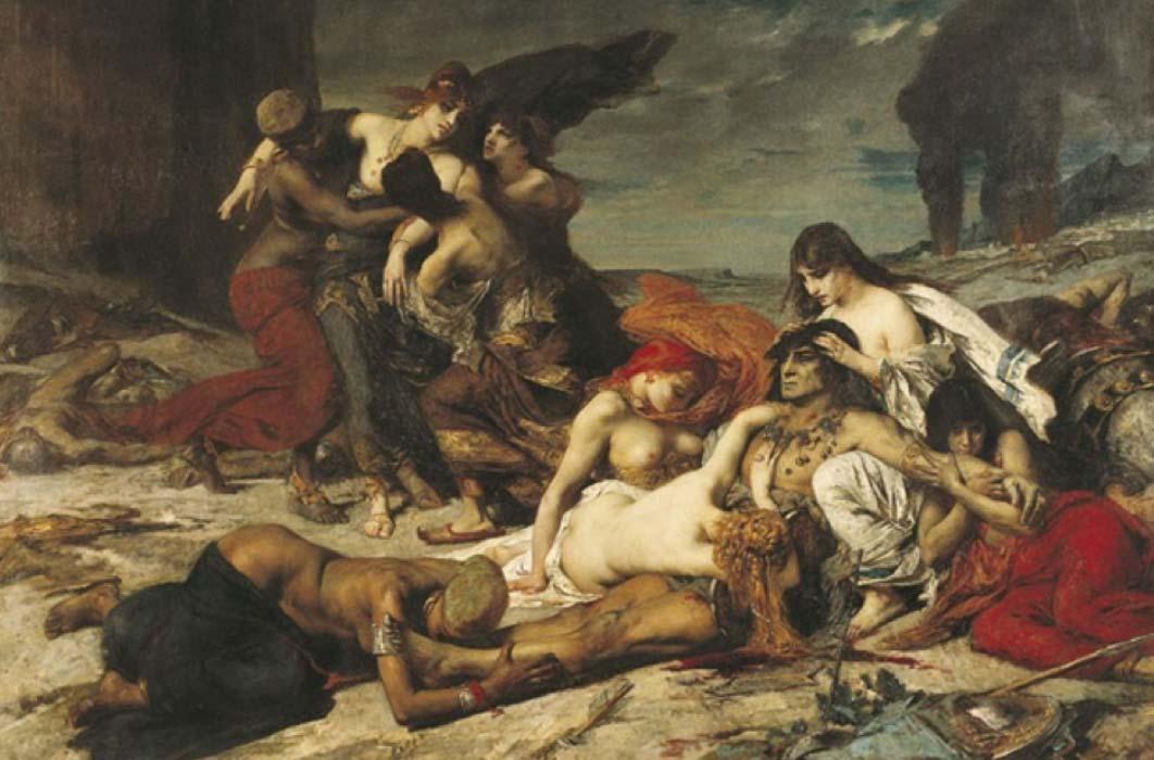 The Death of Ravana by Fernand CORMON (1875) Musée des Augustins. (Public Domain)