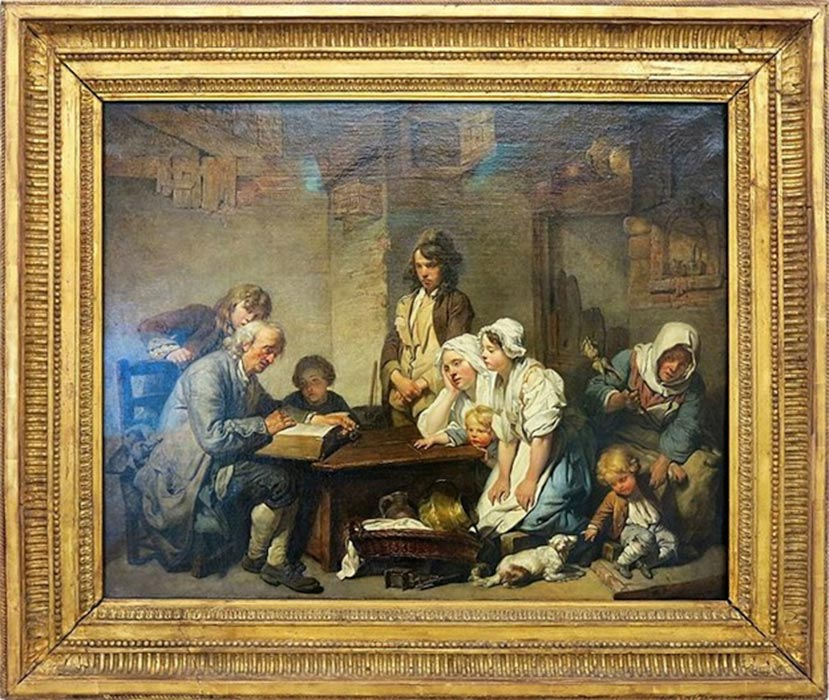 Reading the Bible by Jean-Baptiste Greuze (1755) Louvre Museum. (Public Domain)