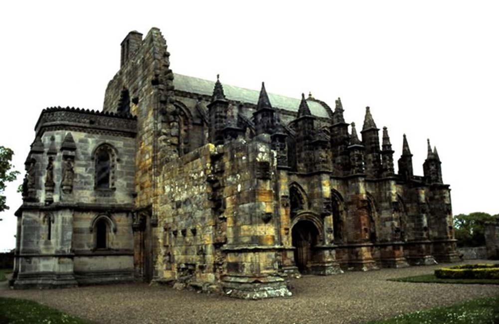 Rosslyn Chapel Founded in the early 15th century by Wm. St. Clair, Earl of Orkney.