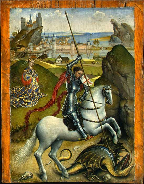 Saint George and the Dragon (Public Domain)