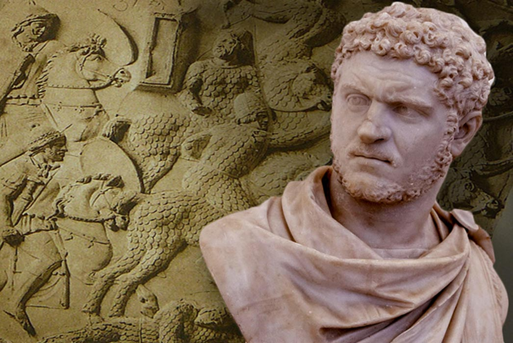 Detail; Emperor Caracalla, and Cataphracts circa 101 AD.