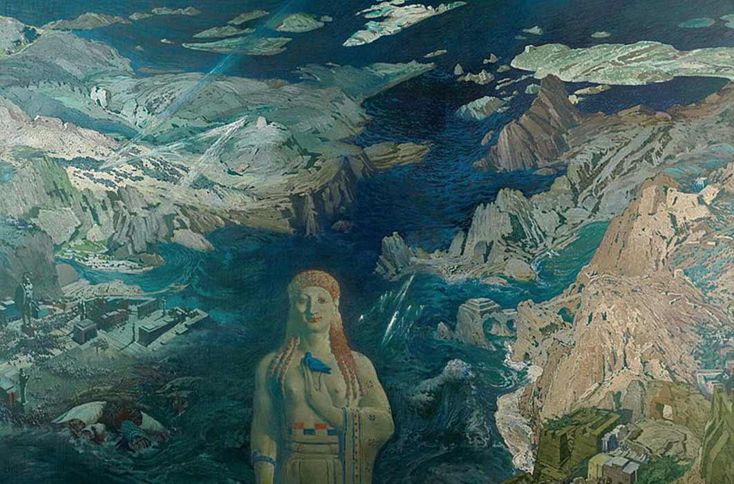 Léon Bakst's vision of cosmic catastrophe. Stat Russian Museum