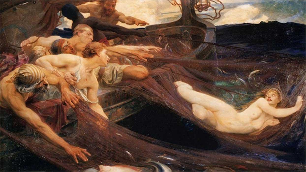 The Sea Maiden  by Herbert James Draper (1894) (Public Domain)