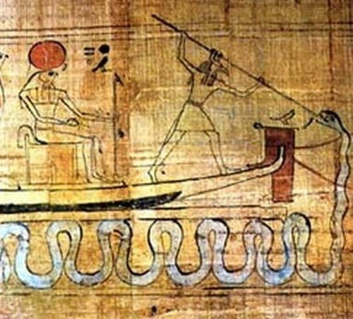 Set spearing Apep. (Egyptian Museum Cairo) (Public Domain)