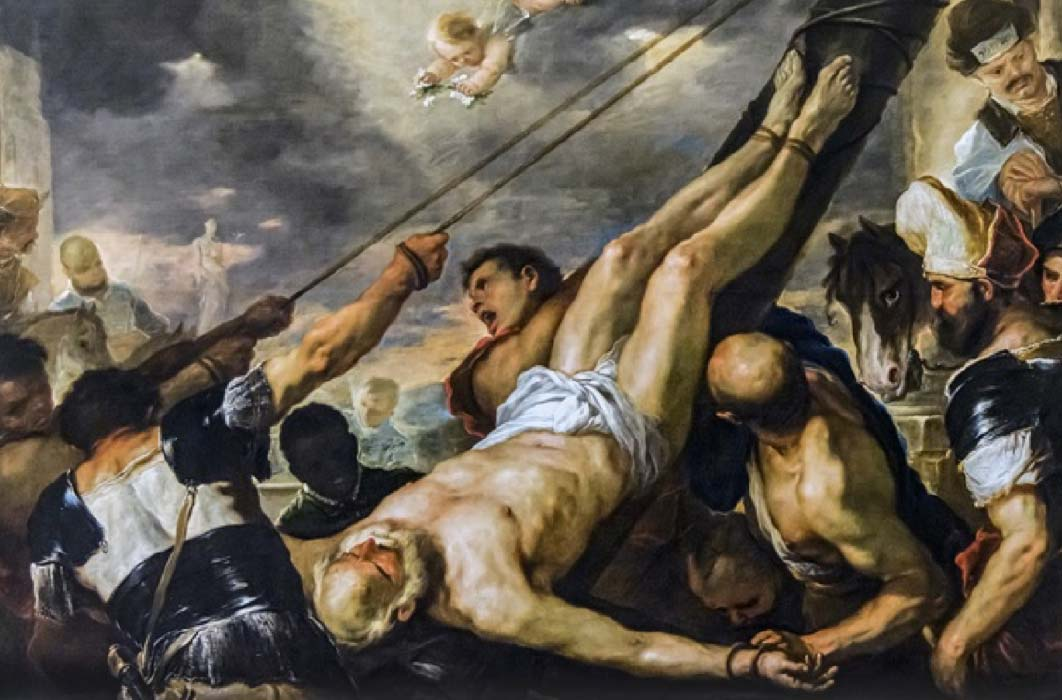 Crucifixion of Saint Peter by Luca Giordano, Gallerie dell'Accademia in Venice (circa 1660) (Public Domain)