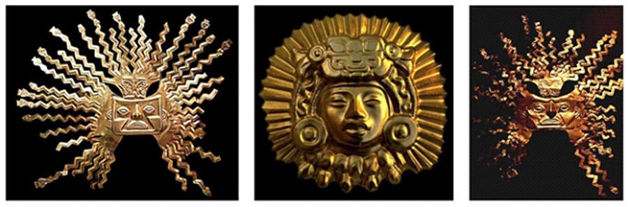 Sun God Inti masks