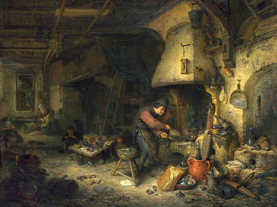 The Alchemist by Adriaen van Ostade (1661) (Public Domain)