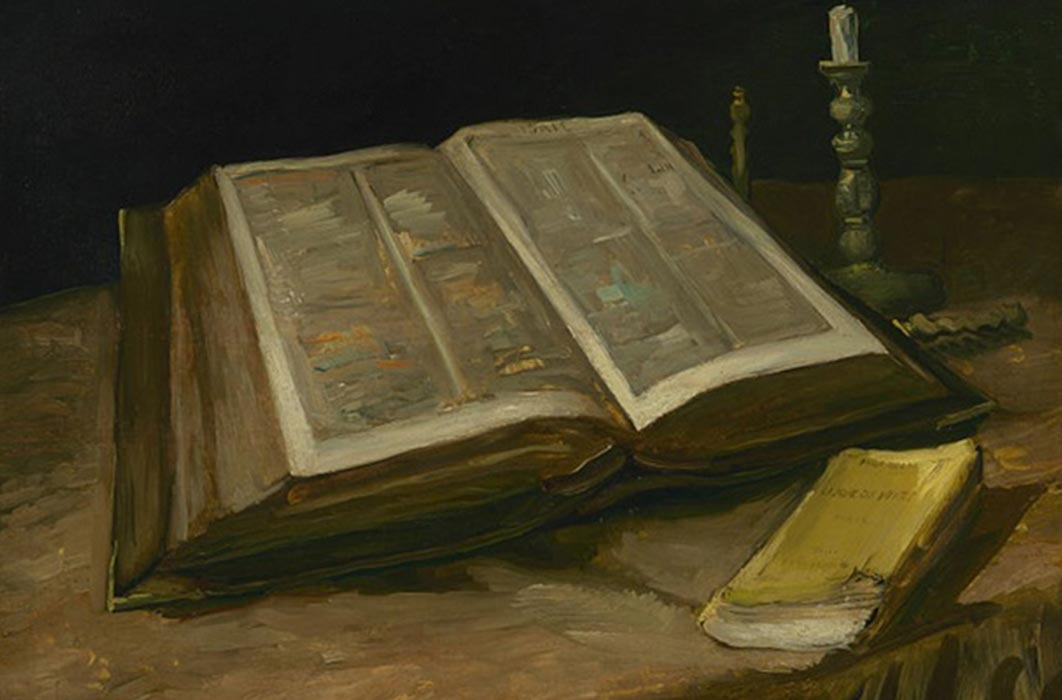 Still life with Bible by Vincent van Gogh (1885) Van Gogh Museum (Public Domain)