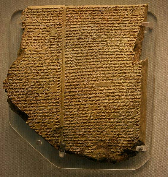 The Flood Tablet, the 11th tablet of the Gilgamesh Epic, describes how the gods sent a flood to destroy the world. Utnapishtim was forewarned and built an ark to house and preserve living things. (CC BY-SA 4.0)