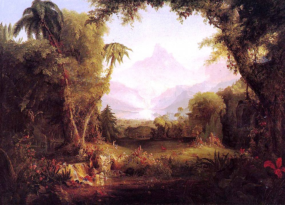 """The Garden of Eden"" by Thomas Cole (c.1828)"