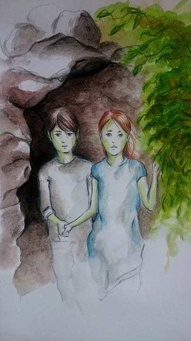 The Green Children of Woolpit, by Katalin Polonyi ©