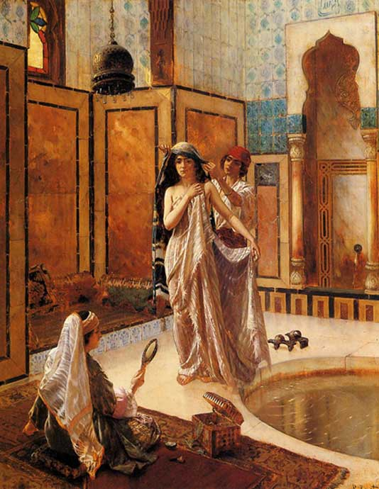 The Harem Bath by Rudolph Ernst (1854-1931) (Public Domain)