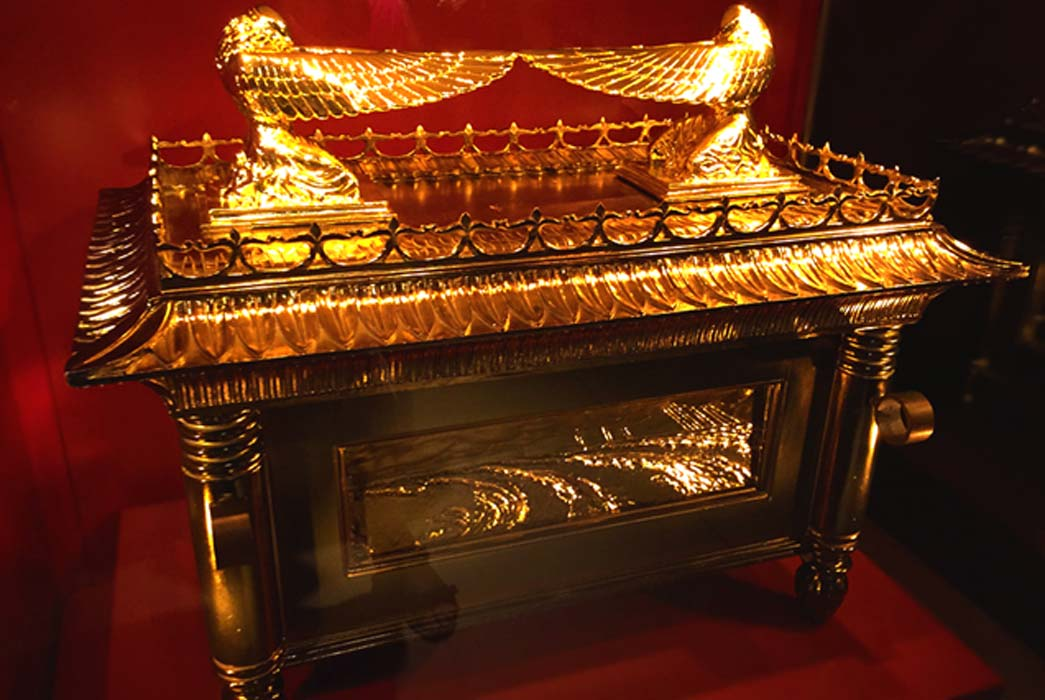 A model of the Ark of the Covenant from biblical description