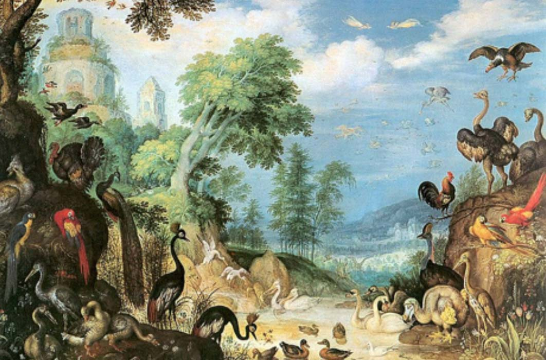 Landscape with Birds by Roelant Savery (1628) Kunsthistorisches Museum (Public Domain)