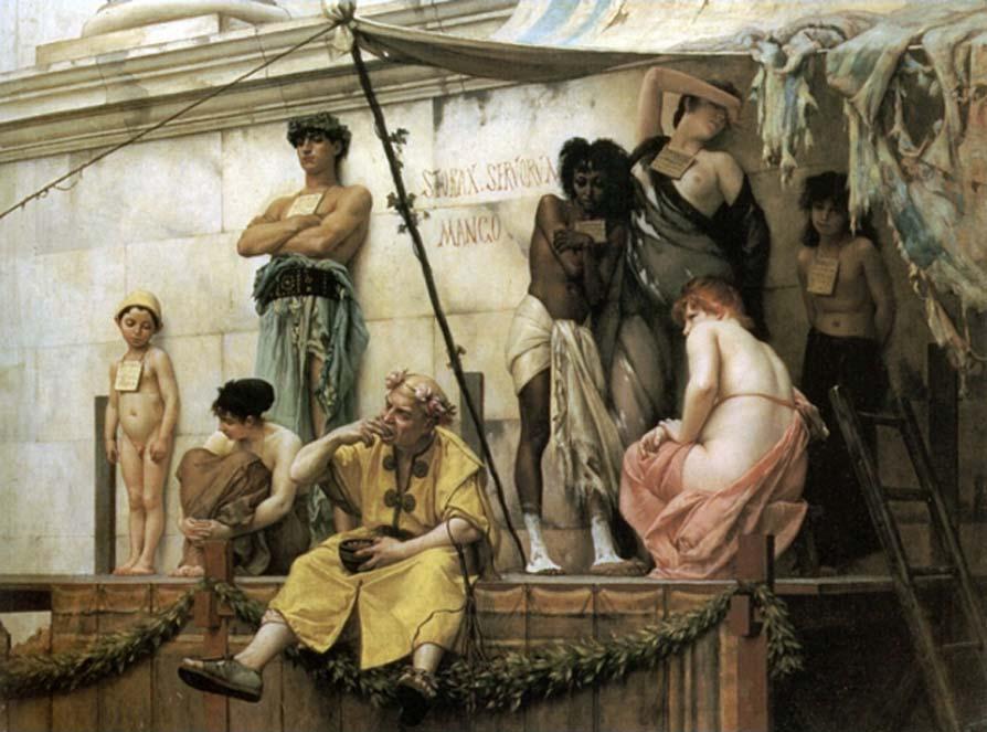 The Slave Market by Gustave Boulanger's 1886. (Public Domain)