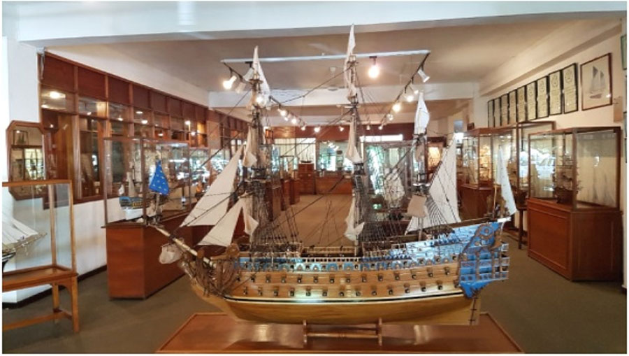 The Soleil Royal leading an armada of model ships (Image: Historical Marine)