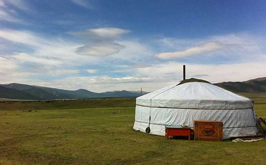 Open Sky and a Yurt in the Orkhon Valley (Public Domain)