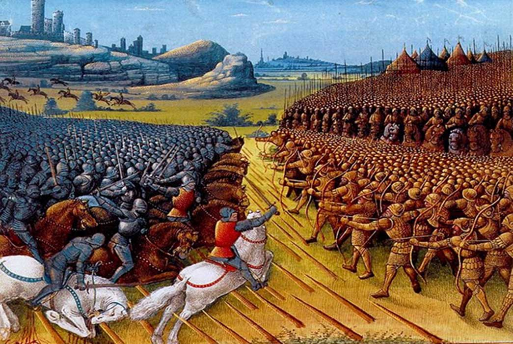 Painting of the Battle of Nicopolis – or the Crusade of Nicopolis; detail