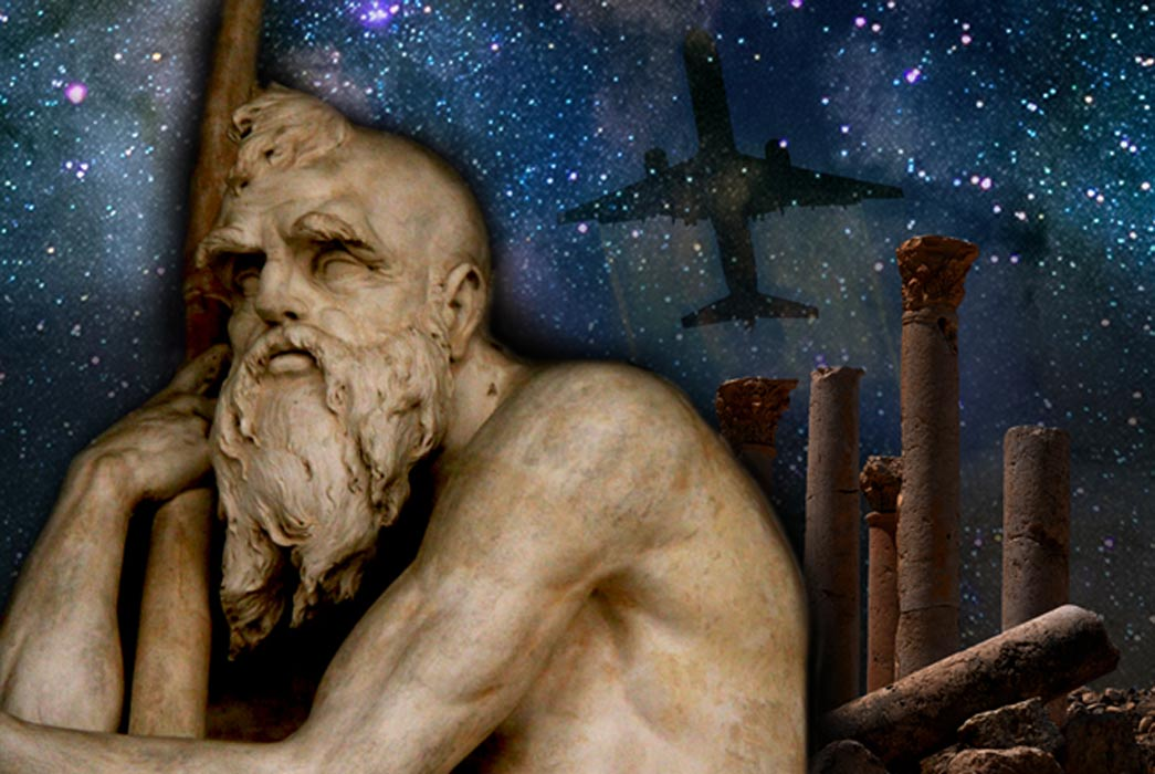 Deriv; Old Father Time and Ancient Ruins and Boeing 757-300, Galaxy