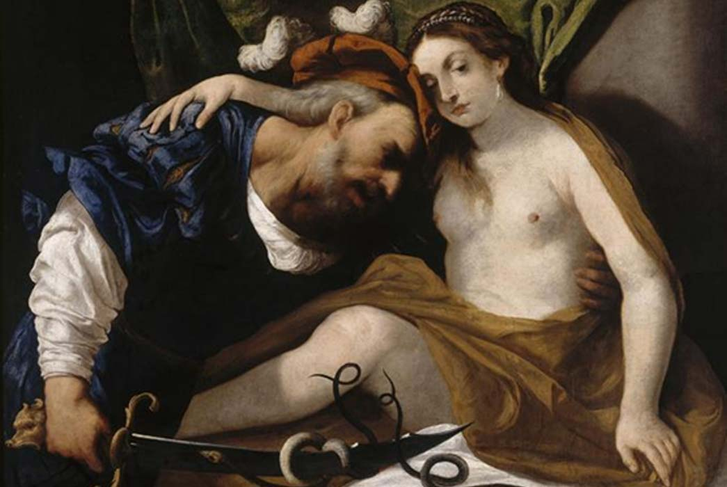 Tiresias transformed into a woman by Pietro della Vecchia (1626 – 1678)