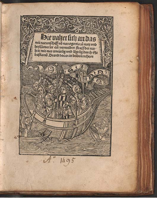 Title page of Sebastian Brant's book: Ship of Fools (Public Domain)