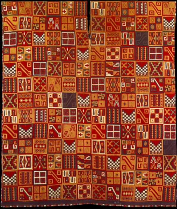 Tupa Inca tunic, created between 1450 and 1540 AD. Wool and cotton. 90.2 x 77.15 cm. Dumbarton Oaks, Washington, D.C. (Public Domain)