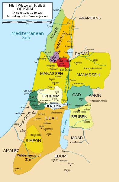 Twelve Tribes of Israel (CC BY-SA 3.0)