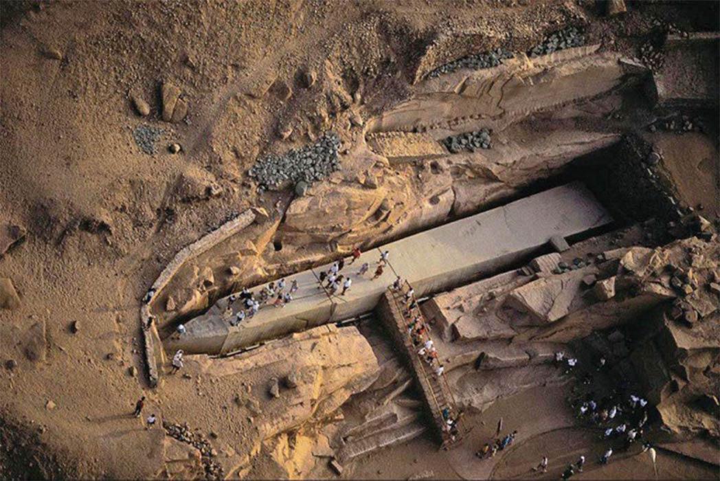 The Unfinished Obelisk at Aswan (Image: David H Childress)