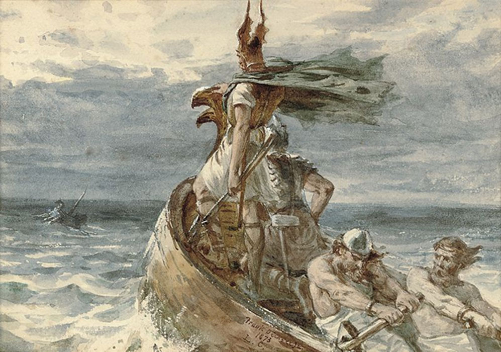 Vikings Heading for Land' 1873 by Frank Dicksee (1853–1928).
