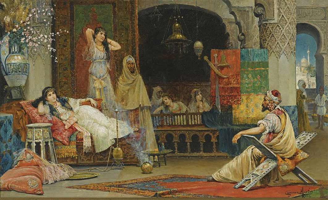 In the Harem by Juan Giménez Martín: (1858 – 1901)