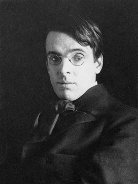 William Butler Yeats photographed in 1903 by Alice Boughton (Public Domain)