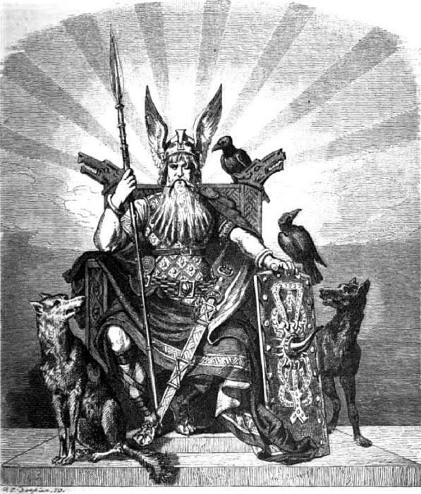Woden/Odin the Norse God by Carl Emil Doepler (1824-1905) (Public Domain)