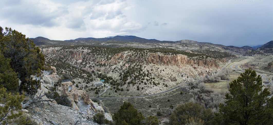 Clear Creek Canyon, Panorama, taken from an opposing bluff.