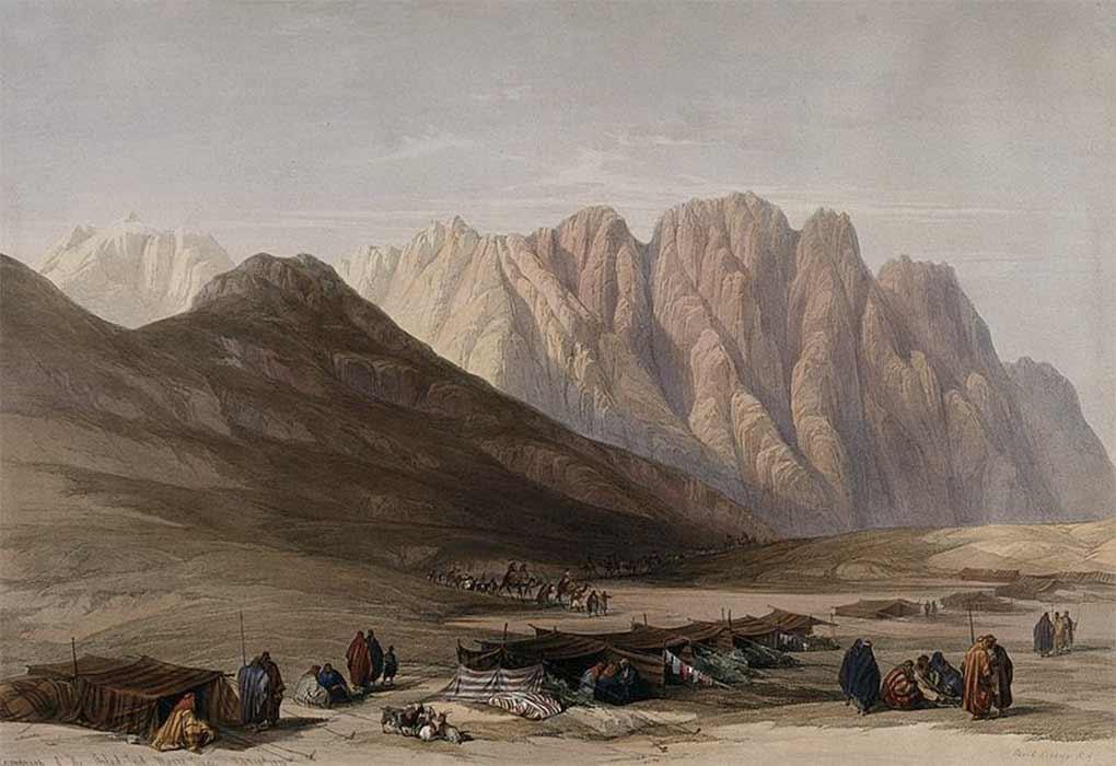 Encampment of the Aulad-Sa'id at Mount Sinai. Is this Sinai?