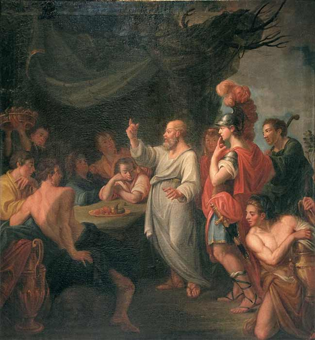 Socrates teaching Pericles by Nicolas Guibal (1780) (CC BY-SA 2.0)