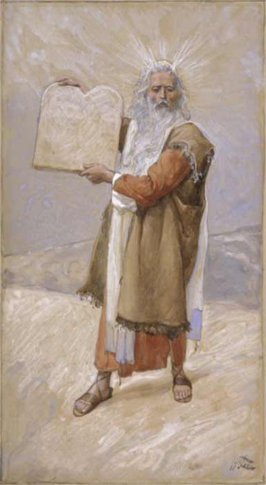 Moses and the Ten Commandments by James Tissot (1896-1902) Jewish Museum, New York. (Public Domain)