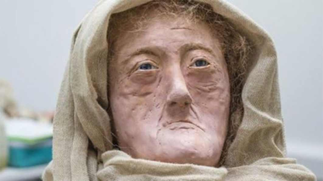 """The wax model of 60 year-old """"Druid of the Hebrides"""" produced by Karen Flemming. ( University of Dundee )"""