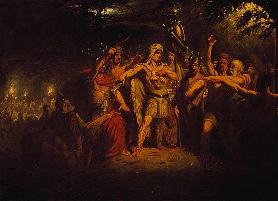 Civilis inciting the Batavians to rebel by Barend Wijnveld (1835) (Public Domain)