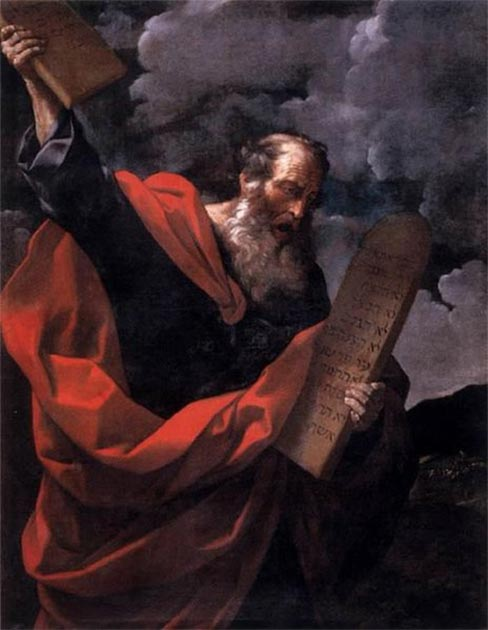 Moses with the Tables of the Law by Guido Reni (1624) Galleria Borghese (Public Domain)
